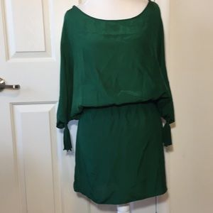 Emerson Thorpe Silk Tassel Cold Shoulder Dress